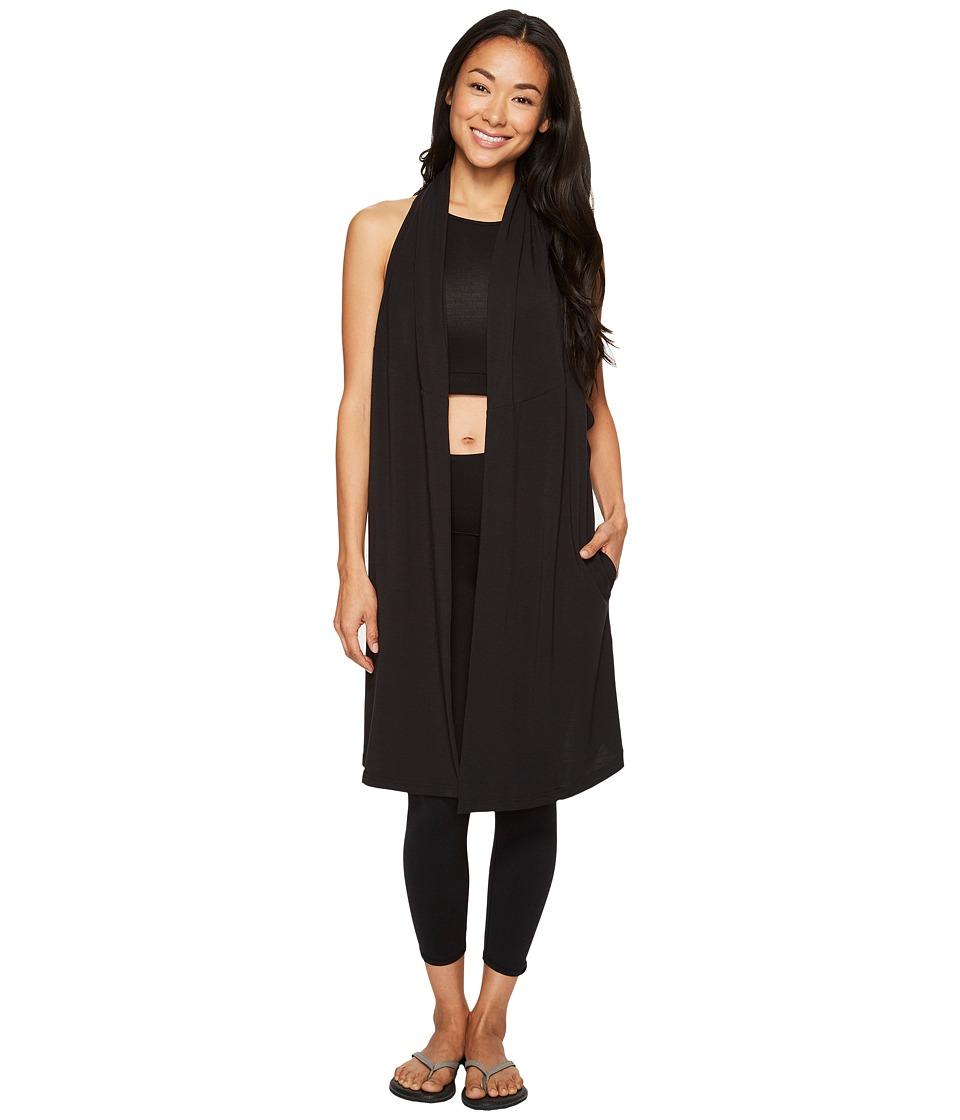 Lucy Calm Heart Wrap Vest (Lucy Black) Women