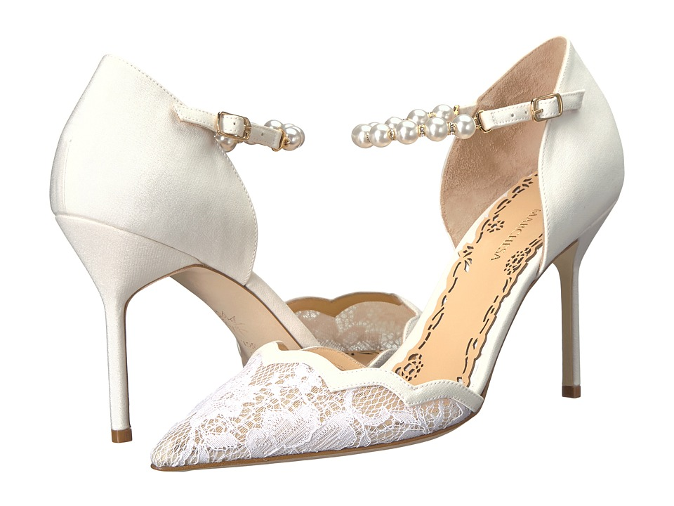 Marchesa Emma (White Lace) High Heels