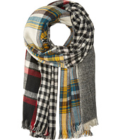 Steve Madden - Multi Facet Plaid Blanket Wrap
