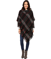 Steve Madden - Plaid Split-Neck Ruana
