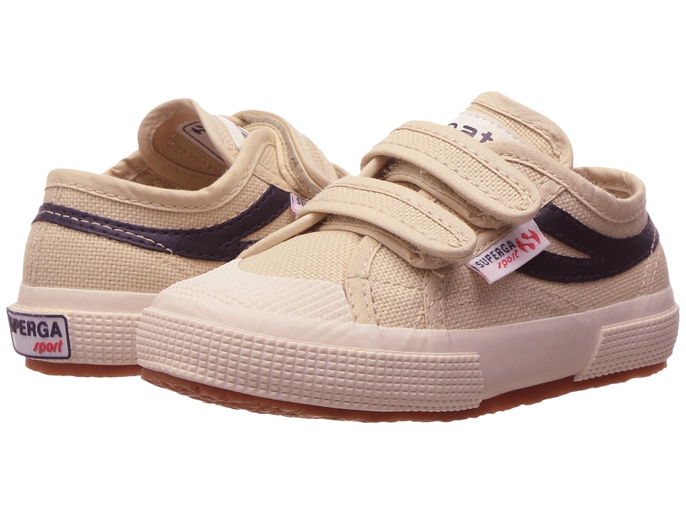Superga Kids - 2750 JVEL Panatta (Infant/Toddler/Little Kid/Big Kid) (Ecru/Navy Canvas) Kids Shoes