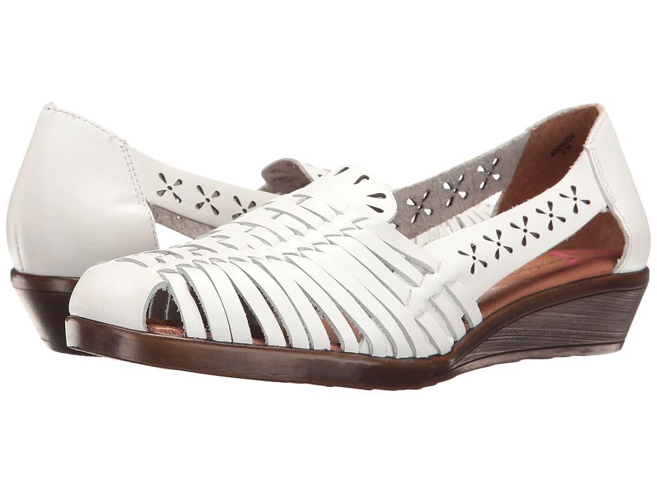 Vintage Sandal History: Retro 1920s to 1970s Sandals Comfortiva Fairfax White Womens  Shoes $69.95 AT vintagedancer.com