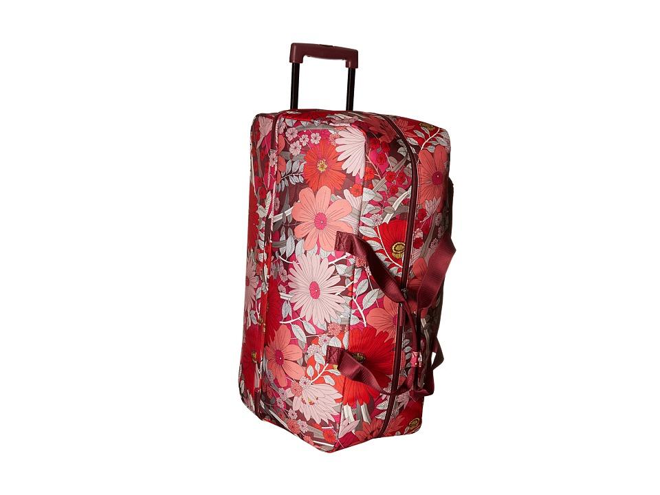 Vera Bradley Luggage Lighten Up Large Wheeled Duffel (Bohemian Blooms) Duffel Bags