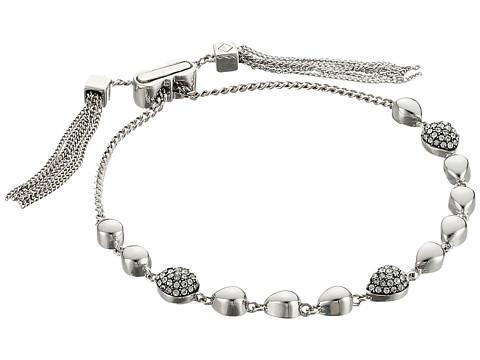 Cole Haan Teardrop Pull Tie Bracelet - Rhodium/Crystal