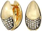 Cole Haan Half Pave Teardrop Huggie Earrings
