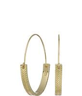 Cole Haan - Basket Graphic Hook Hoop Earrings