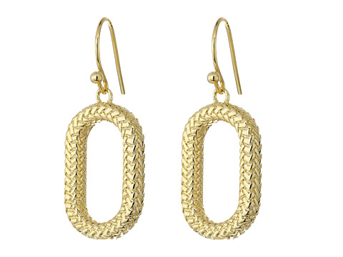 Cole Haan Open Oval Drop Earrings - Gold