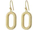 Cole Haan Open Oval Drop Earrings