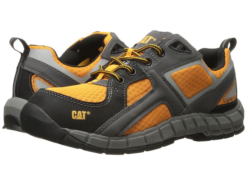 Caterpillar Gain Steel Toe (Black/Gunmetal/Bright Marigold) Men
