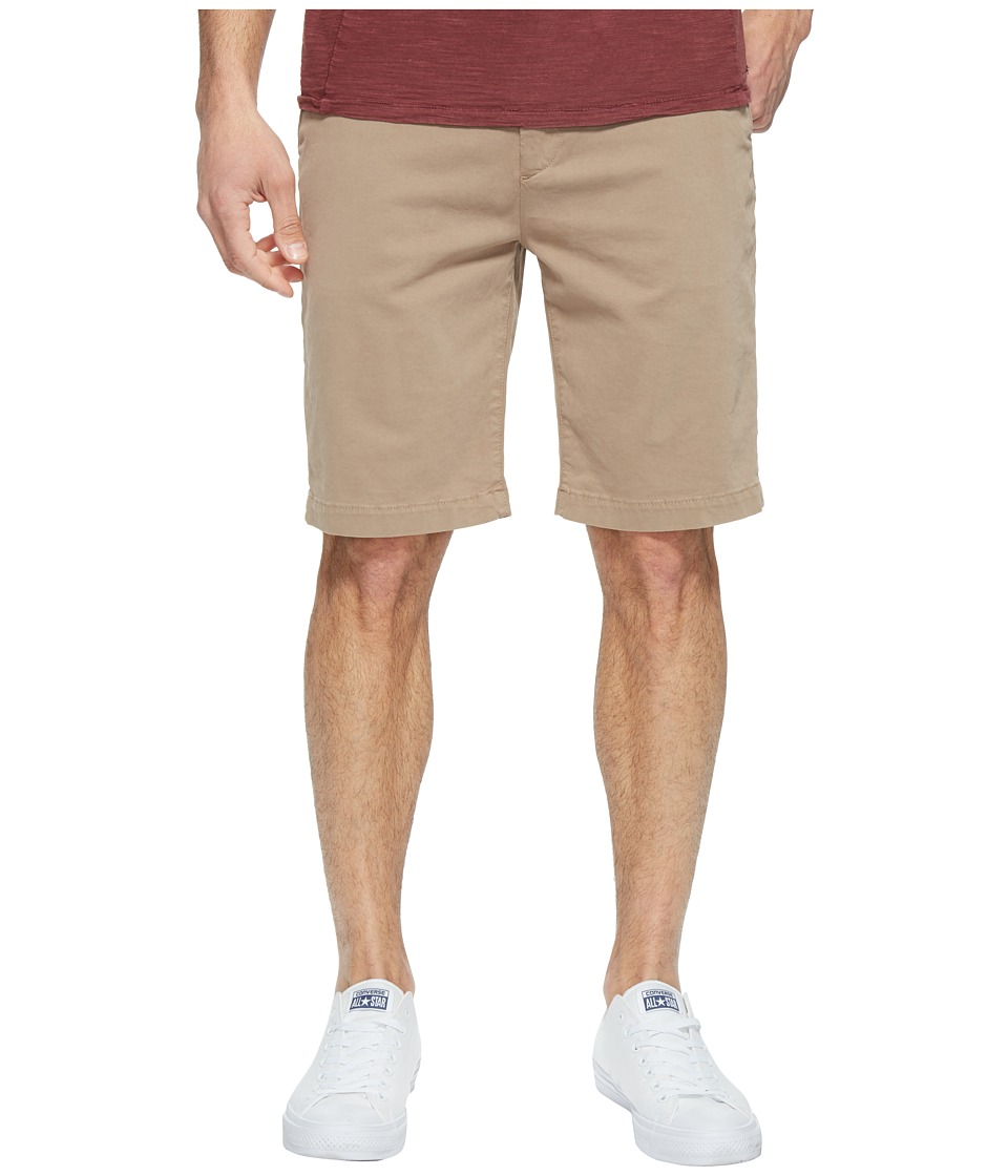 7 For All Mankind Luxe Performance Sateen Chino Shorts (Light Khaki) Men