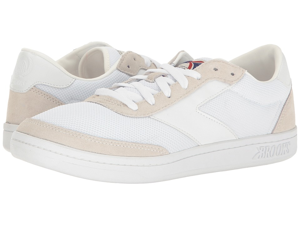 Brooks Heritage Court Doherty (White/White) Men