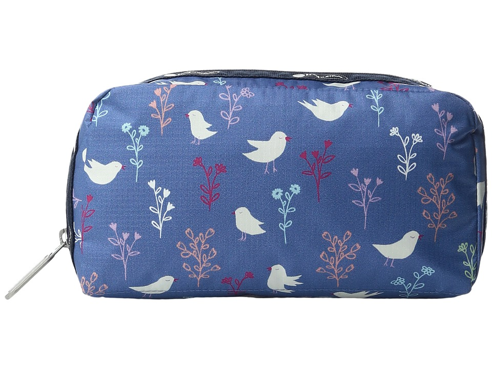 LeSportsac Essential Cosmetic Case (Song Birds Blue) Cosmetic Case