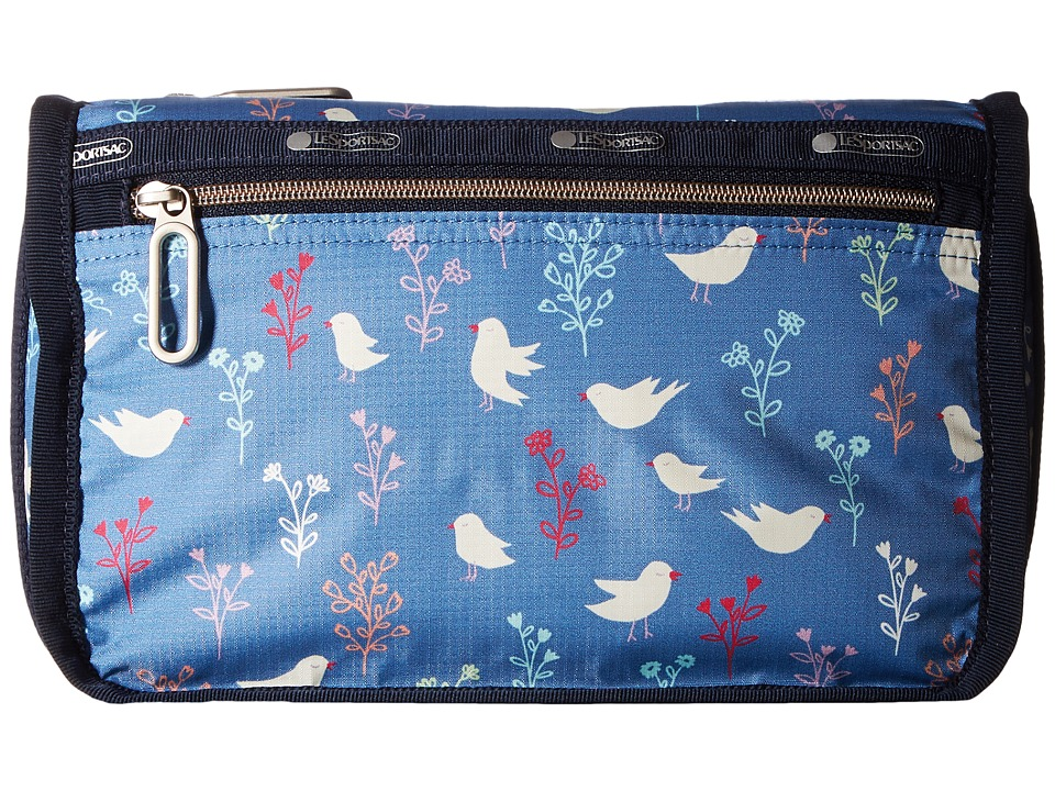 LeSportsac Everyday Cosmetic Case (Song Birds Blue) Cosmetic Case