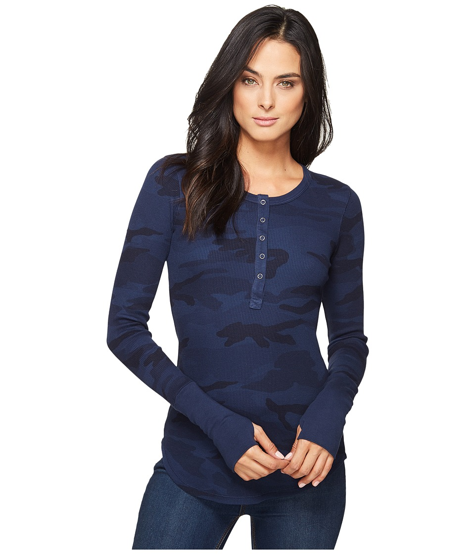 Splendid Camo Henley (Navy) Women