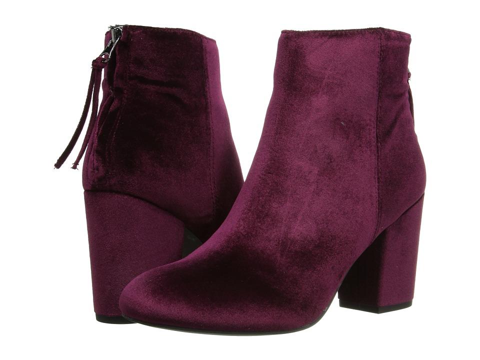 Steve Madden-Cynthiav  (Burgundy Velvet) Womens Boots