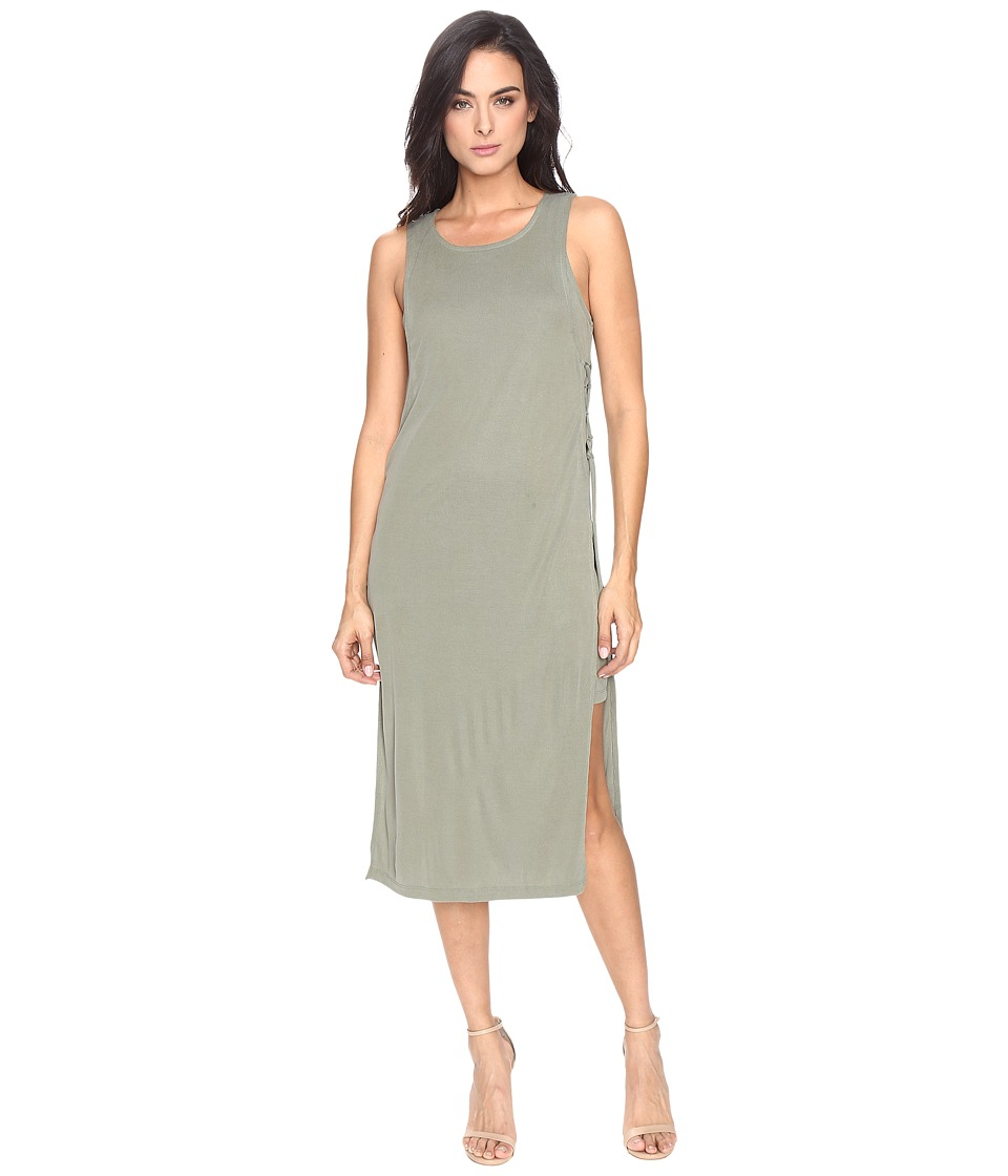 Splendid Sandwash Rib Dress (Moss) Women