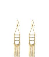 Rebecca Minkoff - Pave + Fringe Chandelier Earrings