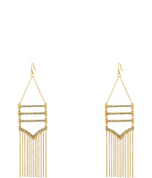Rebecca Minkoff - Drama Pave + Fringe Chandelier Earrings