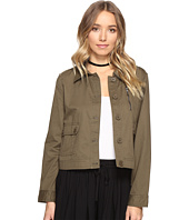Jack by BB Dakota - Cardamon Cropped Cotton Army Jacket
