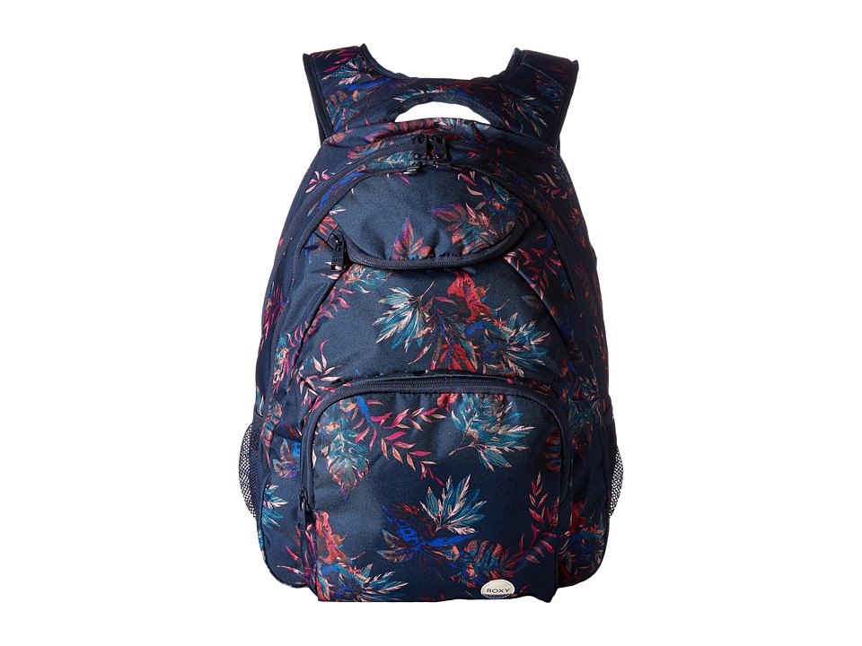 Roxy Shadow Swell Backpack (Dress Blues Cariban Flowers) Backpack Bags