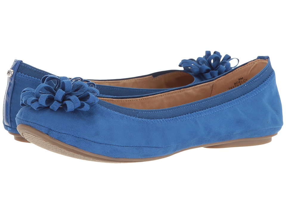 Bandolino - Eloy (Blue Multi Faux Suede) Womens Sandals