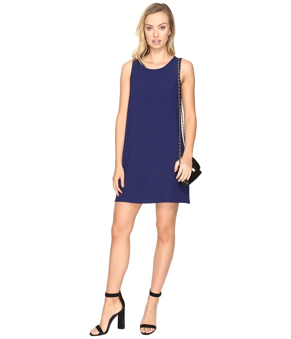 Jack by BB Dakota Ballard Crepe Shift Dress (Lapis Blue) Women