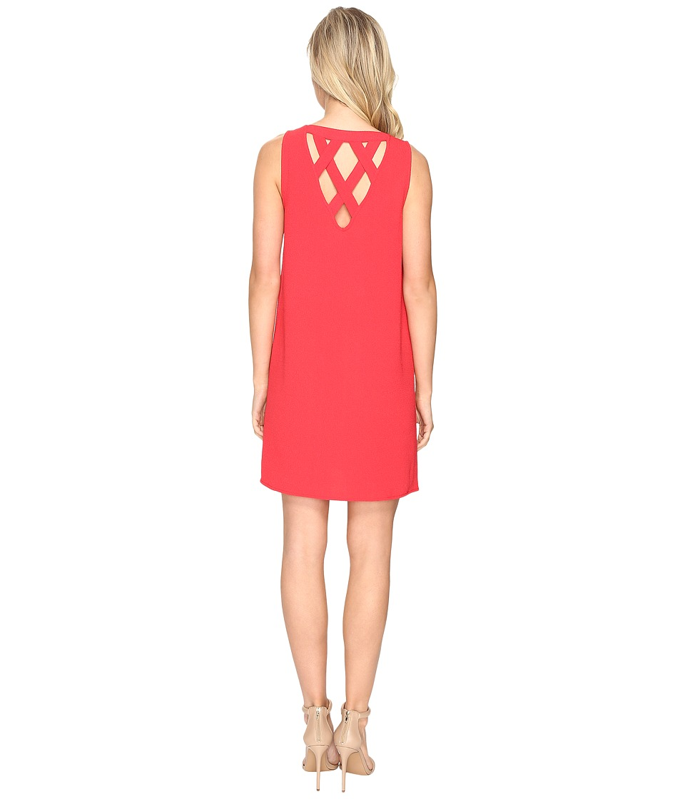 Jack by BB Dakota Ballard Crepe Shift Dress (Rococo Red) Women