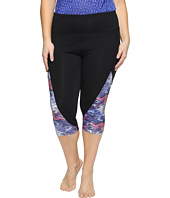 Marika Curves - Plus Size Slimming High-Rise Capri Leggings