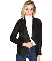 Jack by BB Dakota - Carnation Faux Suede Backed Drape Front PU Jacket