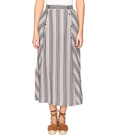 Jack by BB Dakota - Norman Varigated Stripe Button Front Skirt
