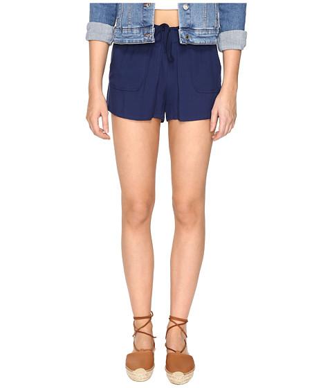 Jack by BB Dakota Marlin Rayon Twill Drawstring Shorts - Lapis Blue