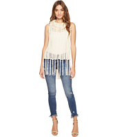 Jack by BB Dakota - Dres Stripe Stitch Fringed Tank Top