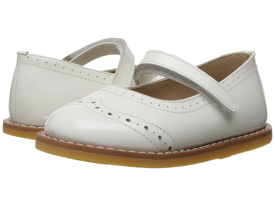 Elephantito - Martina Flats (Toddler) (White) Girls Shoes