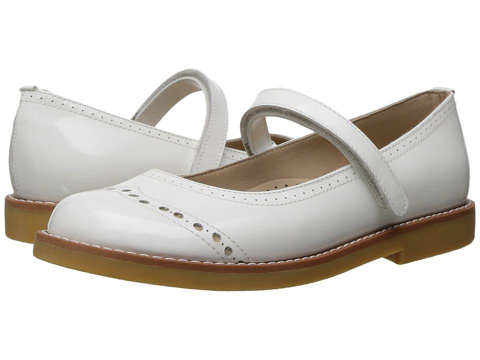 Elephantito Martina Flats (Toddler/Little Kid/Big Kid) (White) Girls Shoes