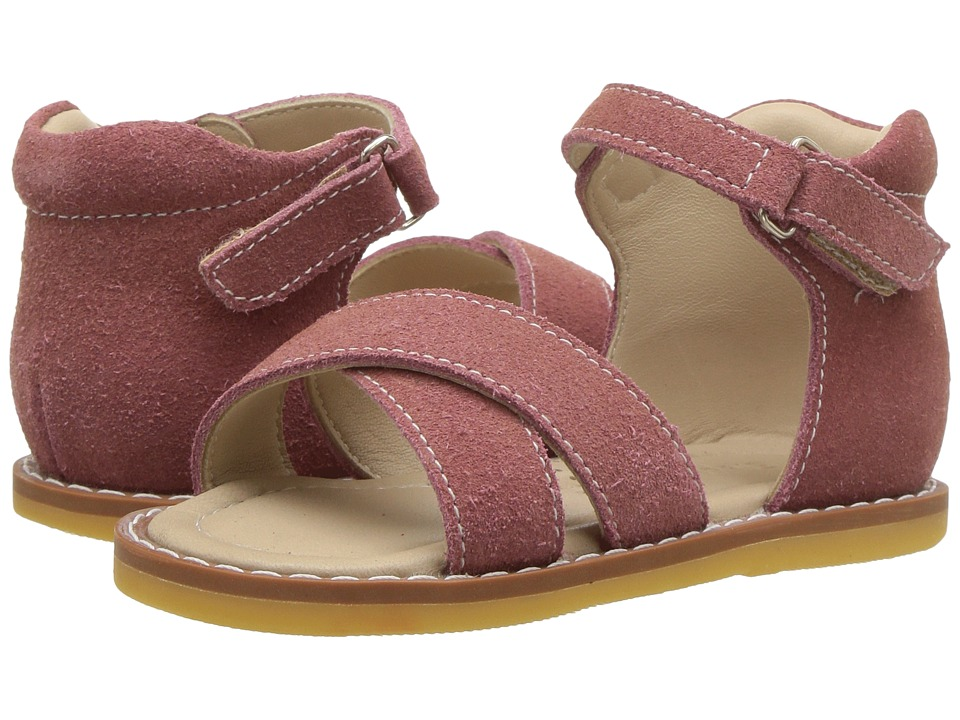 Elephantito - Amy Crossed Sandal (Toddler) (Dusty Pink) Girls Shoes