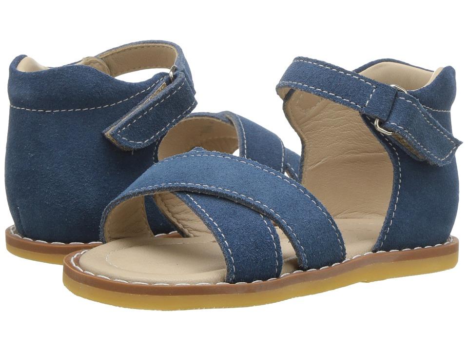 Elephantito Amy Crossed Sandal (Toddler) (Dusty Blue) Girls Shoes