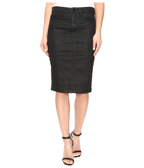 Blank NYC Black Coated Pencil Skirt in All Lacquered Up - All Lacquered Up