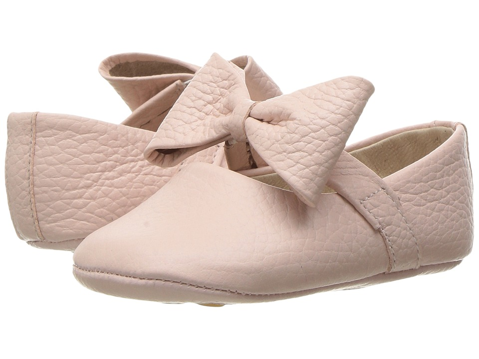 Elephantito Baby Ballerina w/ Bow (Infant/Toddler) (Textured Pink) Girls Shoes