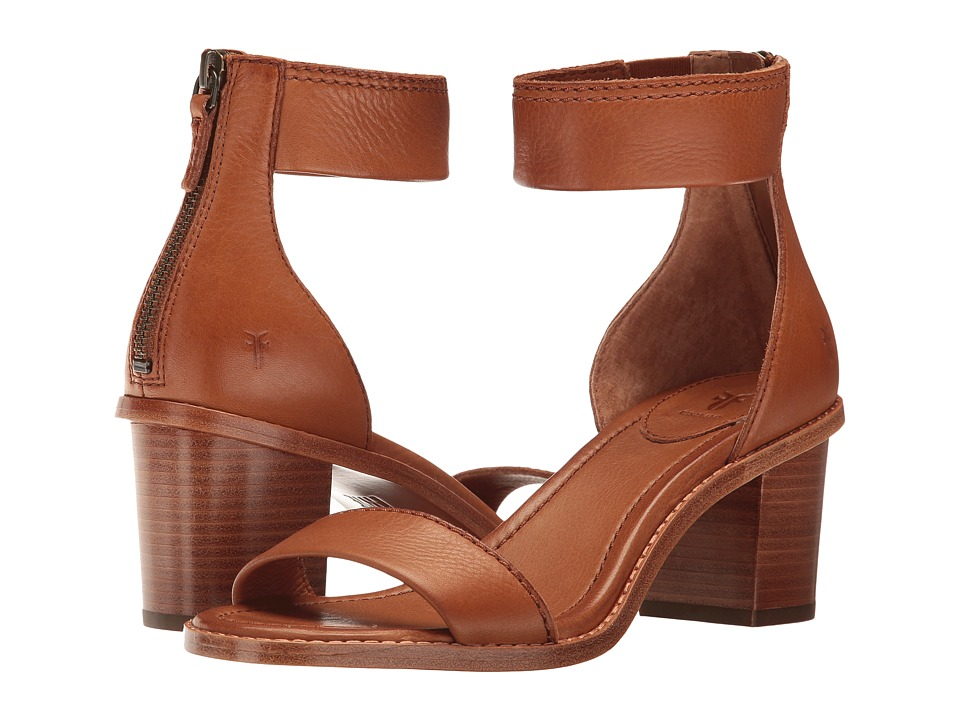 Frye Brielle Back Zip (Copper Soft Full Grain) Women's Dress Sandals