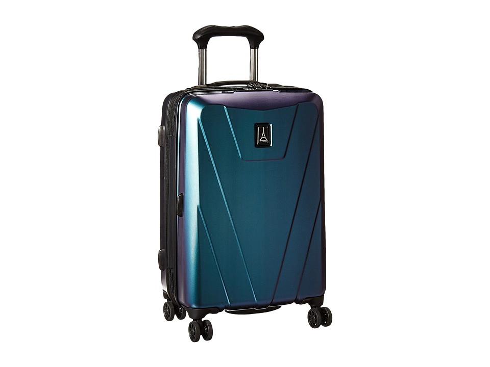 Travelpro Maxlite 4 Hardside 21 Expandable Spinner (Black/Green) Luggage