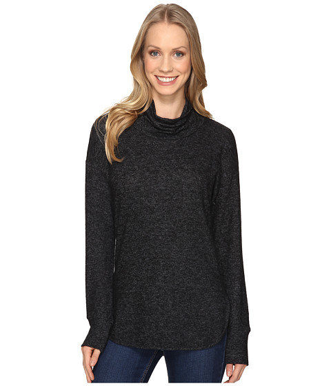 B Collection by Bobeau Melanie Cowl Neck Top - Charcoal Grey