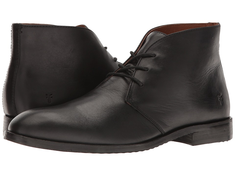 Frye Sam Chukka (Black) Men's Lace-up Boots