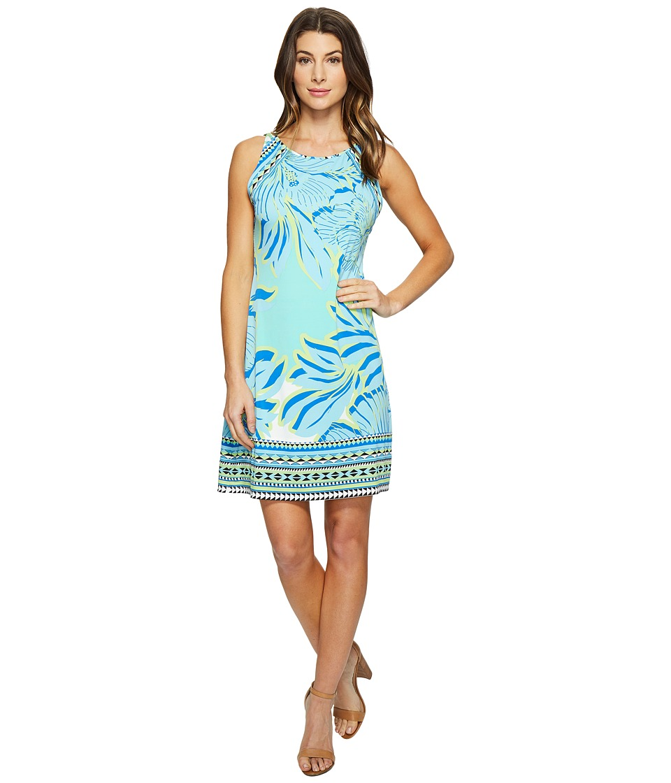 Hale Bob Hot Topics Microfiber Sleeveless Dress (Turquoise) Women