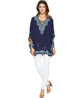 Hale Bob - Seas The Day Embroidered Crinkle Rayon Gauze Tunic