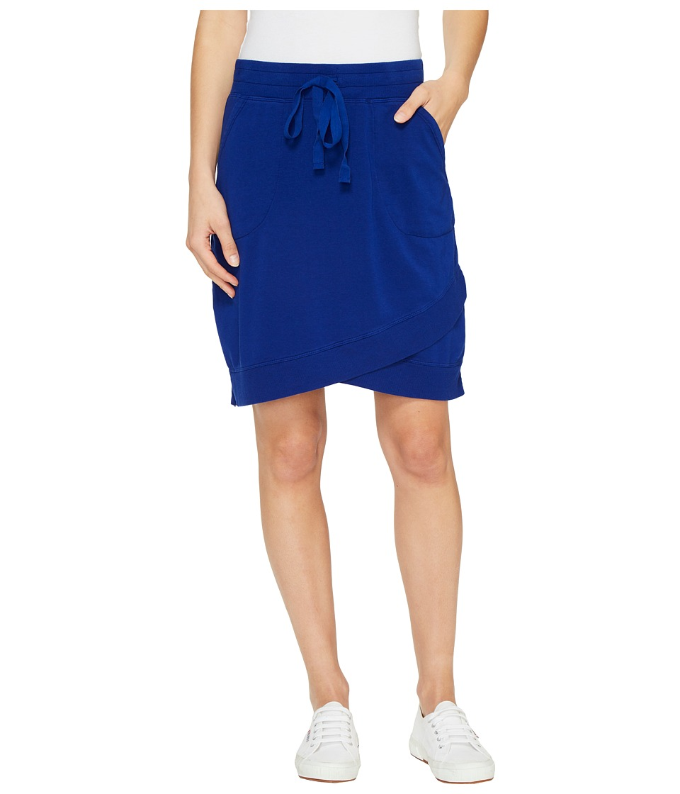 Mod-o-doc Cotton Modal Spandex French Terry Crossover Hem Pull-On Skirt (Nautical) Women