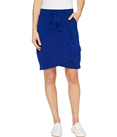 Mod-o-doc - Cotton Modal Spandex French Terry Crossover Hem Pull-On Skirt