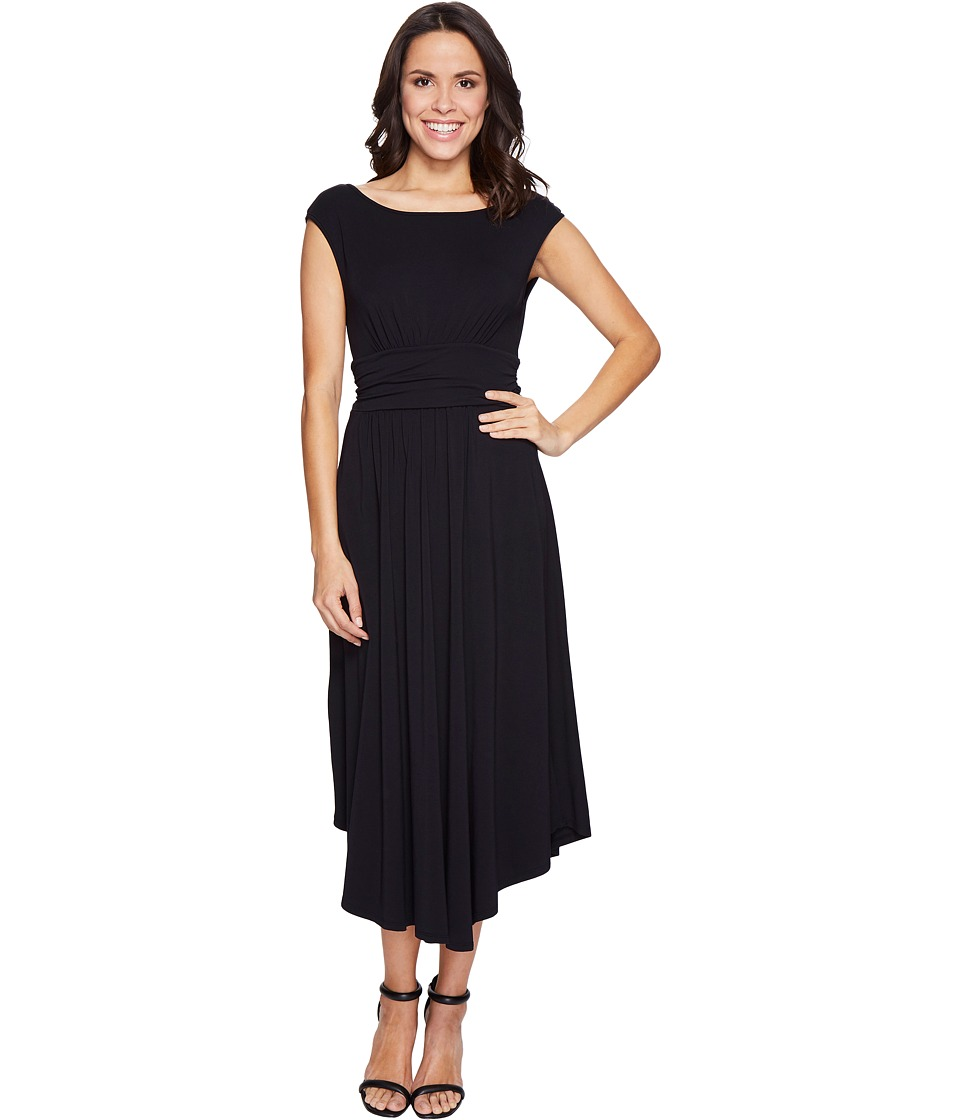Mod-o-doc Cotton Modal Spandex Jersey Shirred Waist Tank Dress (Black) Women