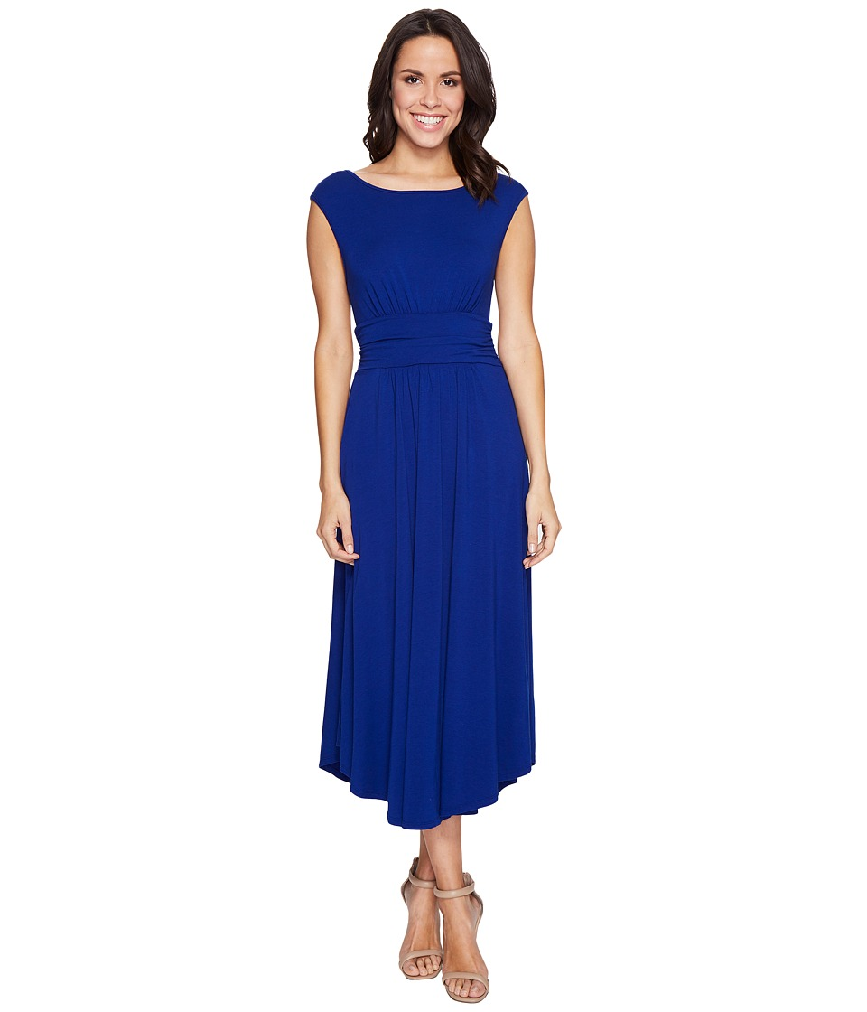 Mod-o-doc Cotton Modal Spandex Jersey Shirred Waist Tank Dress (Nautical) Women