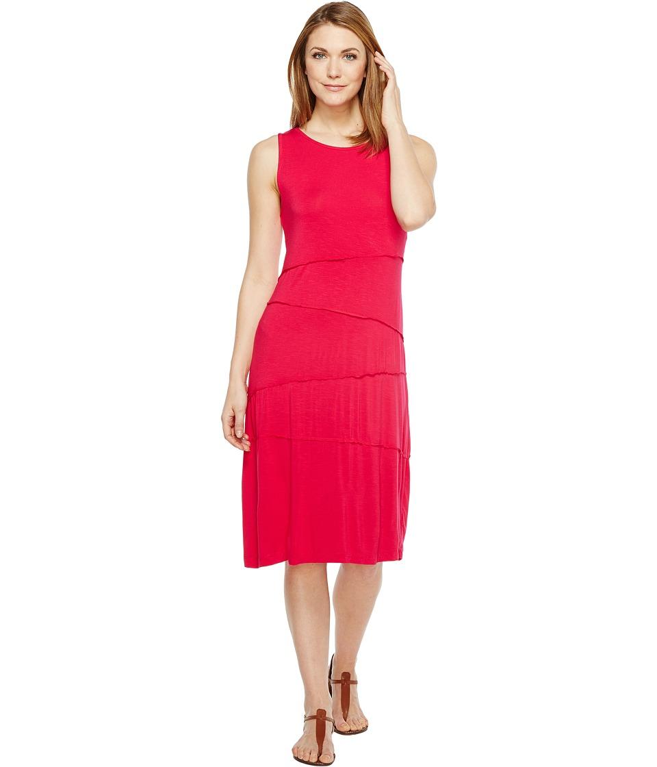 Mod-o-doc Rayon Spandex Slub Jersey Seamed Swing Tank Dress (Berry Red) Women