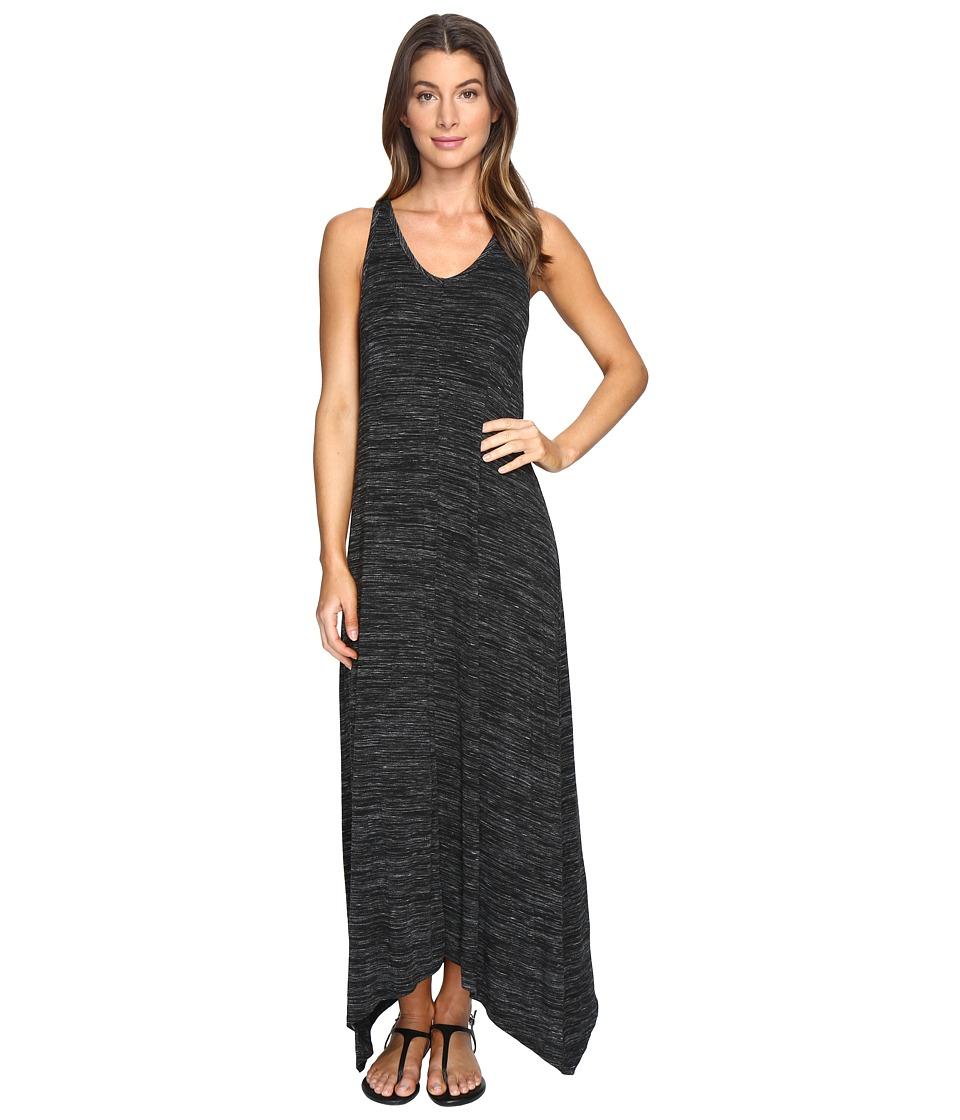 Mod-o-doc Space Dyed Rayon Spandex Jersey Sleeveless Maxi Dress (Black Heather) Women